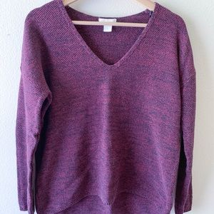 H&M M V-Neck Sweater Burgundy